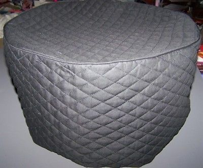 Black Quilted Fabric Round Cover For Crockpots Crock Pot New Fabric Covered Quilted Quilt Fabric