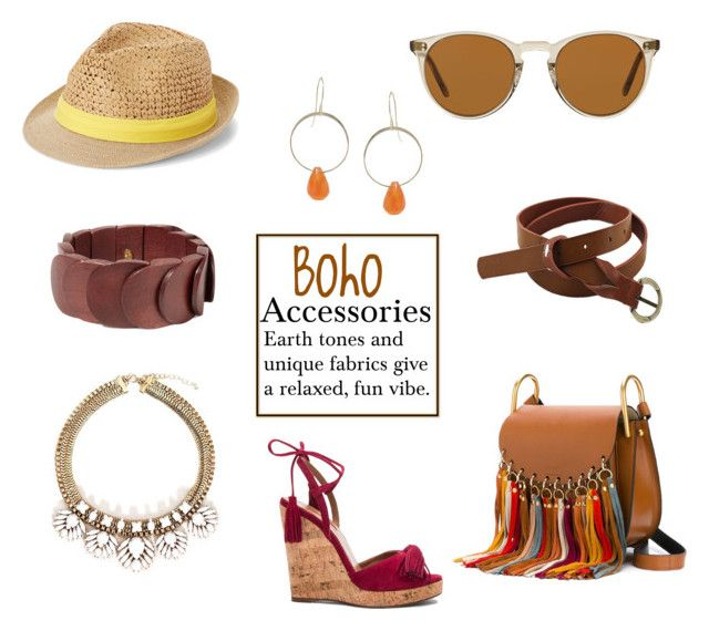 """Boho Accessories"" by horse-dance-princess on Polyvore featuring Steve Madden, Oliver Peoples, Melissa Joy Manning, Chloé, Aquazzura and Kenneth Jay Lane"