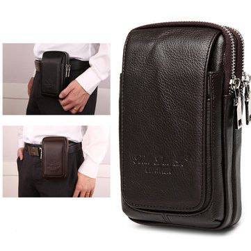 1f05d7a188a Genuine Leather Multi-function Fanny Waist Bag Belt Bum Pouch Phone ...