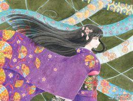 Kimono girl assignment 2 by DejiNyucu