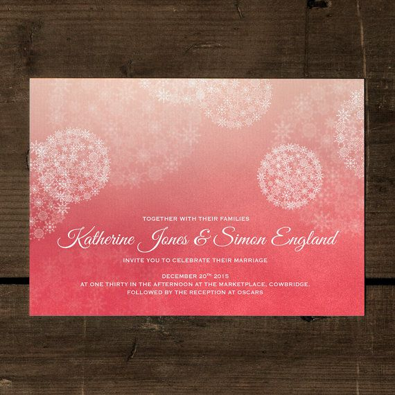 Winter Wonderland Snowing Wedding Invitation Set On Luxury Card Christmas Invites Invitations Uk