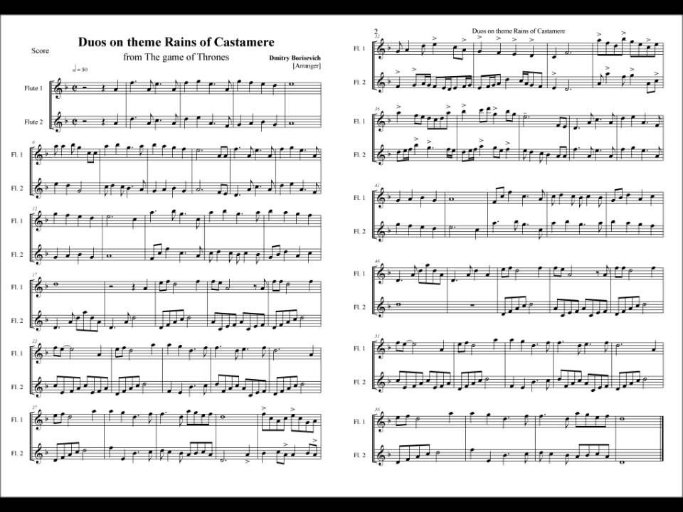 game of thrones tab solo
