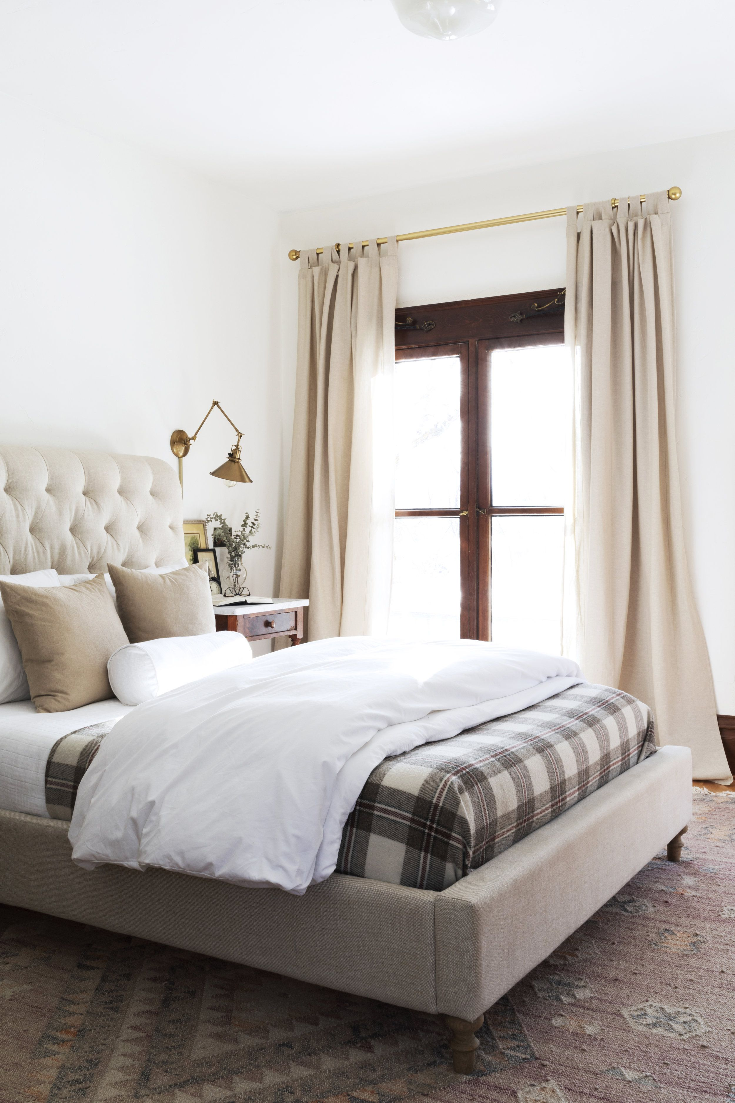 A Review of our IKEA LENDA curtains | Neutral curtains ... on Master Bedroom Curtain Ideas  id=74222