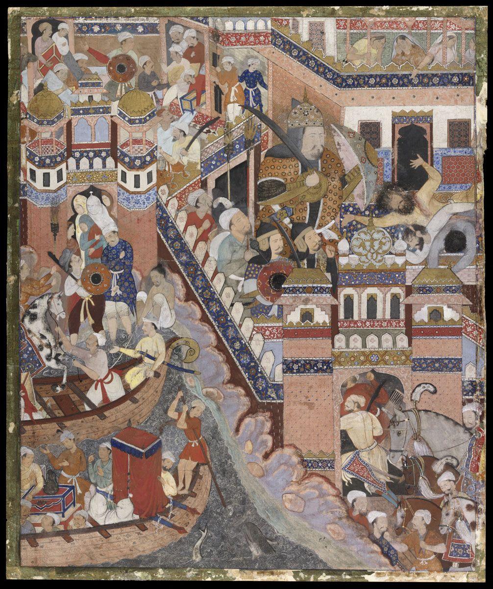 manuscripts calligraphy dar al athar islamiyyah hamza routs marzuq and conquers the fortress of franks sabah co islamic art national museum moderne ölgemälde pinakothek der bilder