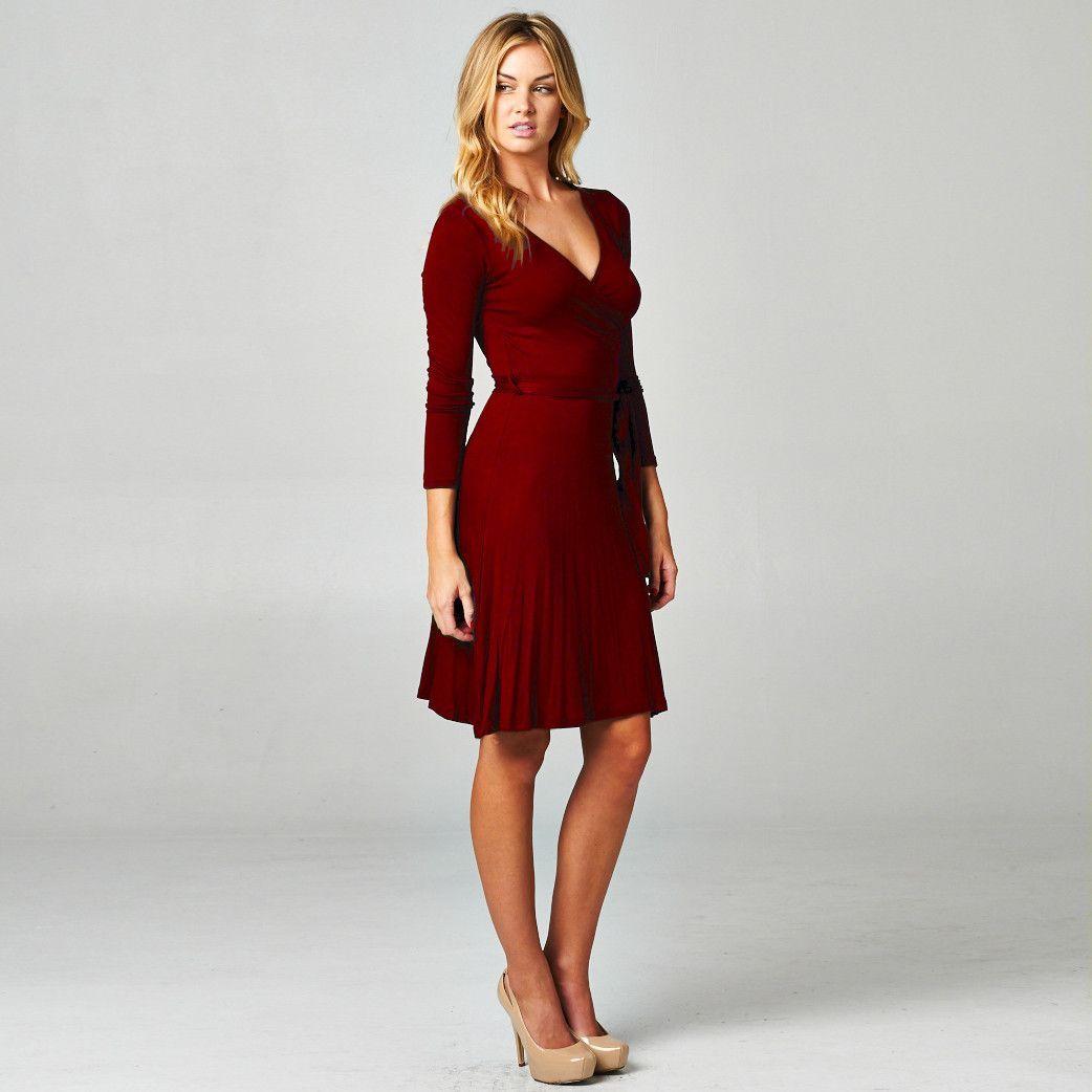 The audrey long sleeve aline wrap dress products pinterest