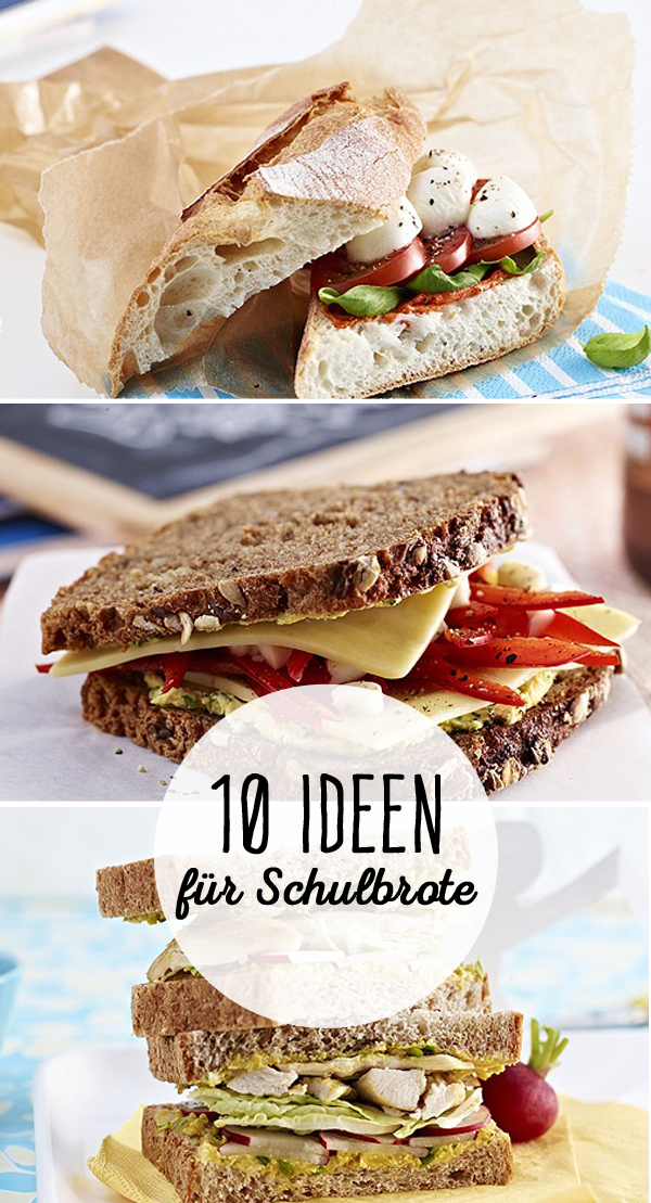 schulbrot 10 ideen f r leckere schulbrote sandwiches toast pinterest. Black Bedroom Furniture Sets. Home Design Ideas