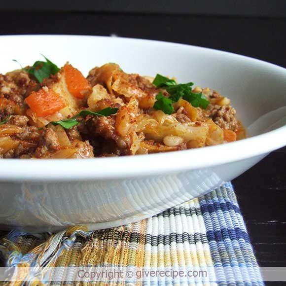 Beef Cabbage Stew Recipe Cabbage Stew Cabbage Recipes Ground Beef Recipes