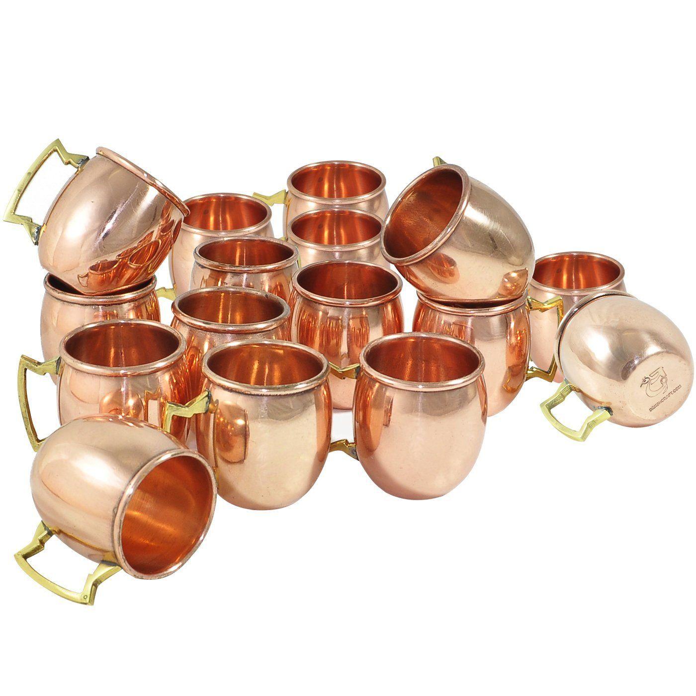 DakshCraft ® Handmade Pure Copper Solid Shot