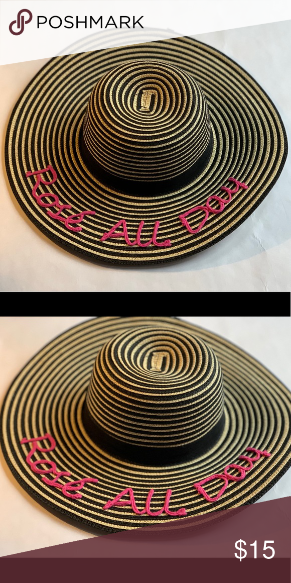 ca55cc0f August Hat Company Rose All Day Beach Hat Great For The Summer And  Vacation! Rose All Day Hat August Hats Accessories Hats