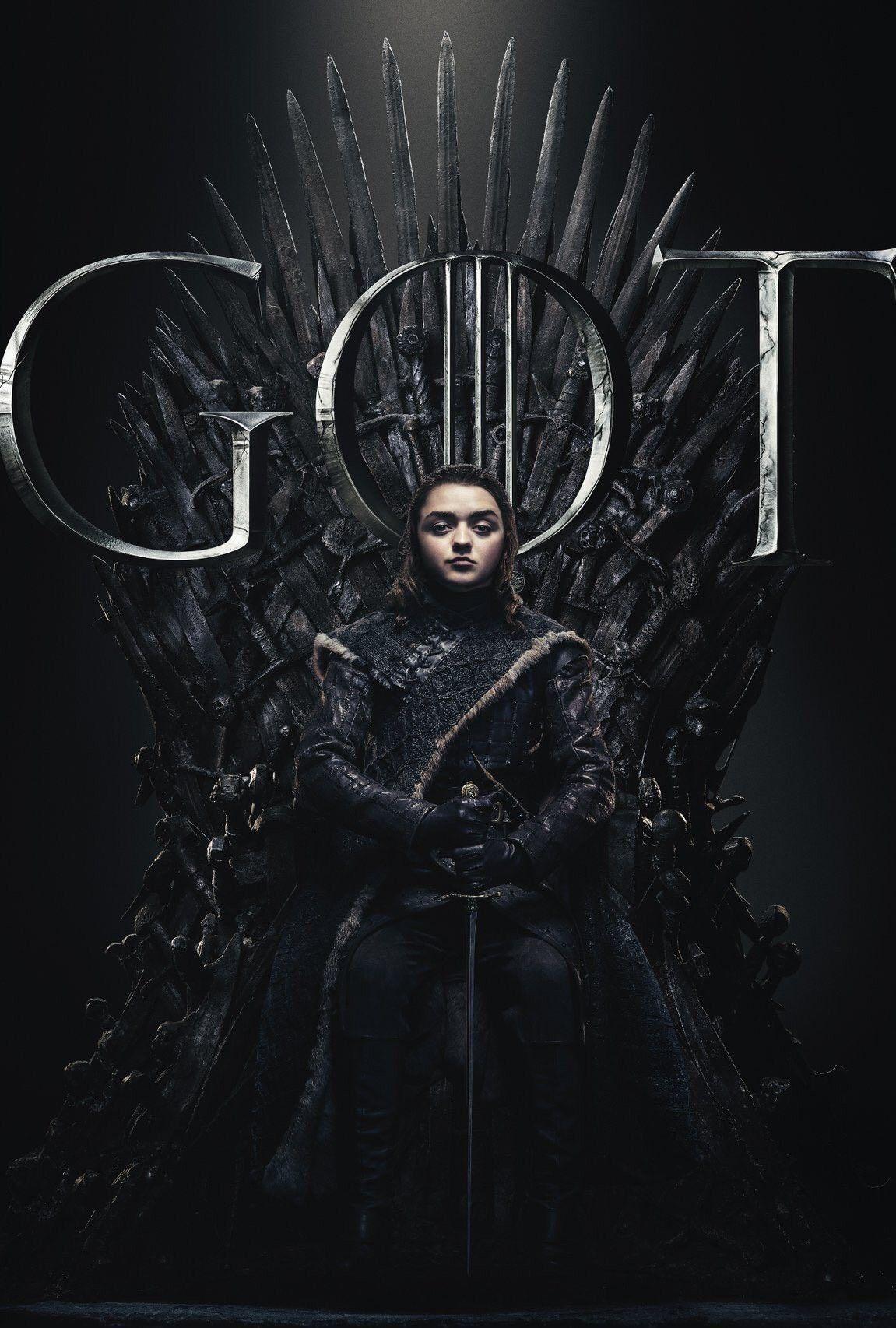 Arya Stark Night King Game Of Thrones Poster