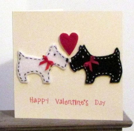 Scotty Dog Valentines Card £3.00