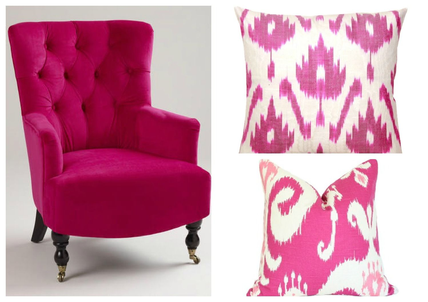 Fuchsia/magenta Color Tone For Entry Way! W/slipper Entry Chair And  Contrast Pillow Like This?