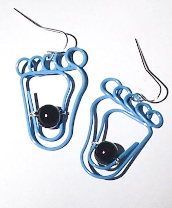Tarheel UNC earrings by AxisMundiShop on Etsy, $7.00