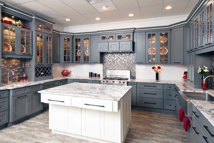 Faircrest Platinum Shaker Kitchen Cabinets | Installing ...