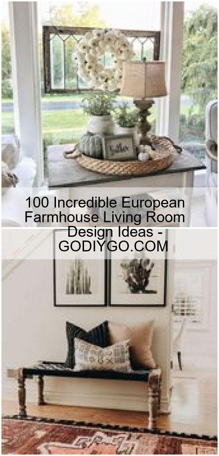 100 Incredible European Farmhouse Living Room Design Ideas - GODIYGO.COM ,  #design #European #farmhouse #GODIYGOCOM #ideas #Incredible #living #room