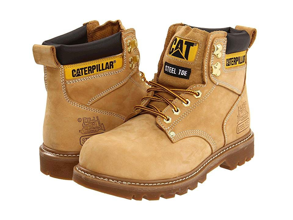 66a2ccaec3c Caterpillar 2nd Shift Steel Toe (Honey Nubuck) Men's Work Boots ...