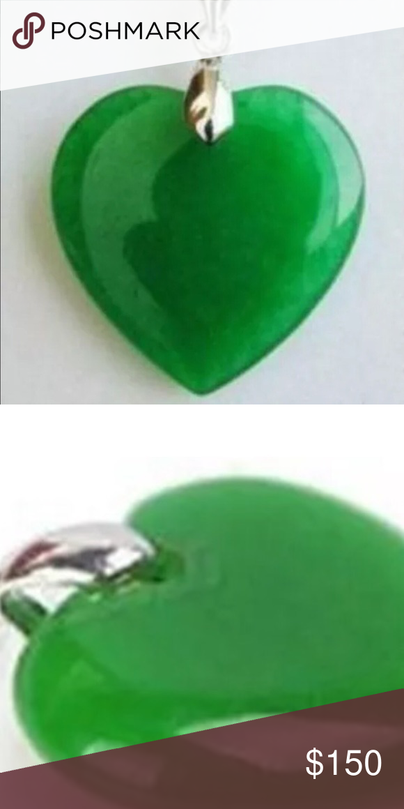 Beautiful jade nephrite heart pendant jade pendant jade jewelry beautiful jade nephrite heart pendant real jade pendant as tested by gem tester aloadofball Gallery