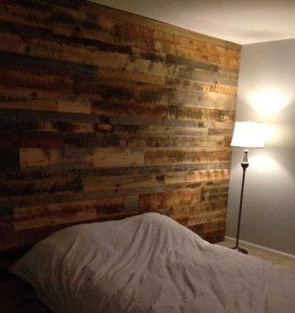 Accent Wall Paneling - Idaho Barn Wood Blend Reclaimed Lumber - Faux Reclaimed Wood Paneling WB Designs