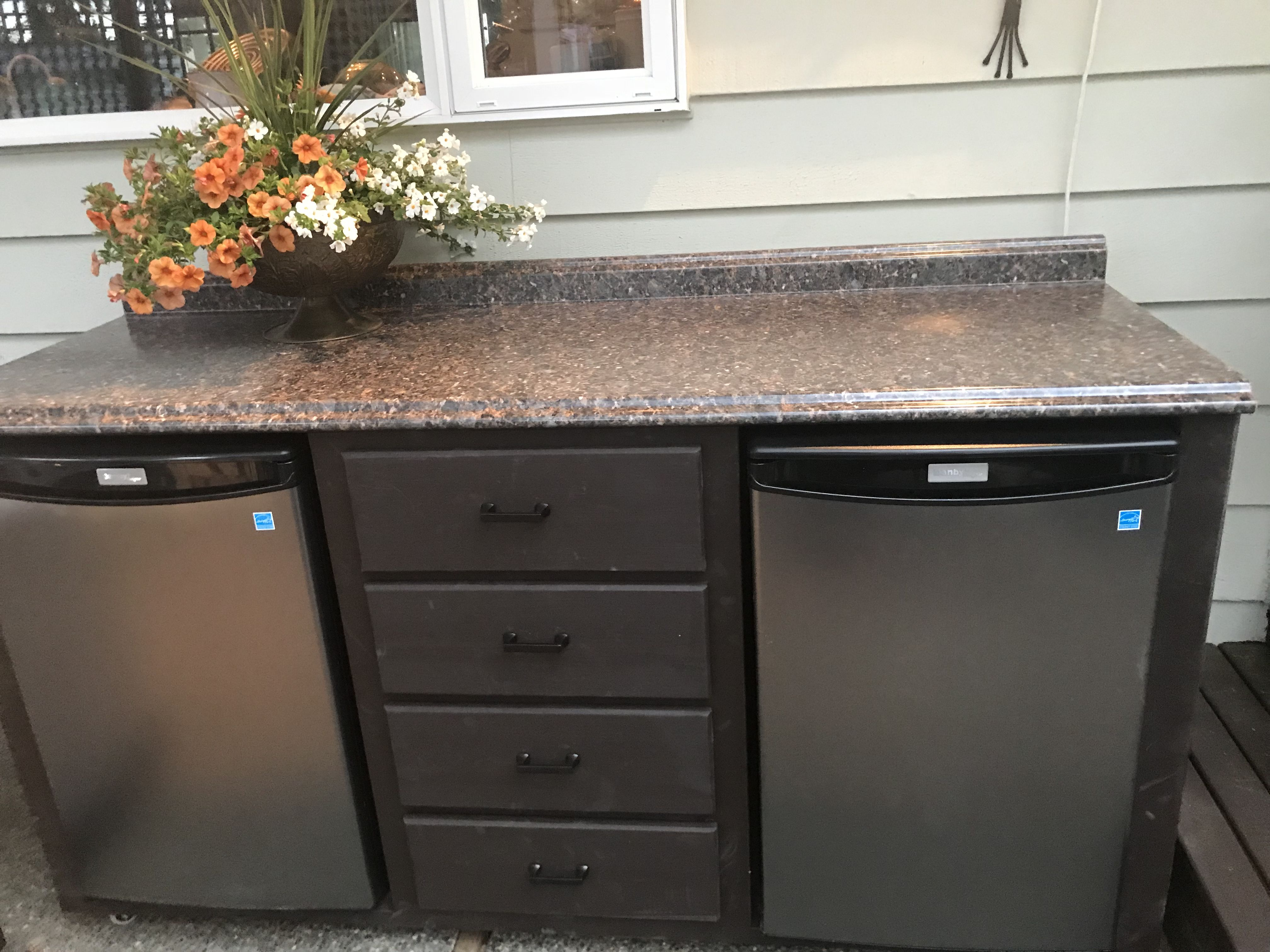 patio cabinet with refrigerators on wheels so much better than coolers love it patio on outdoor kitchen on wheels id=31314