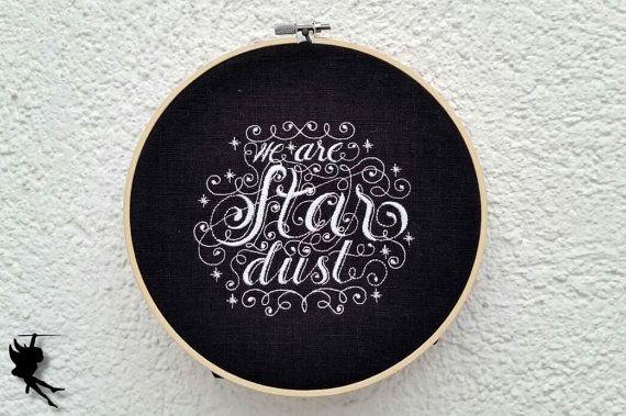 We are stardust  Wanddeko Leinenbild von DieNaehfeeNoir auf Etsy