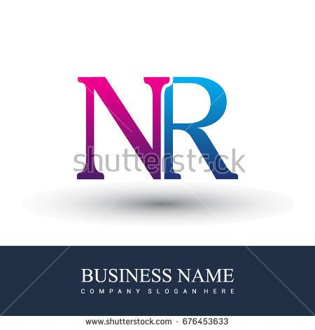 initial letter logo NR colored red and blue, Vector logo design template elements for your business or company identity