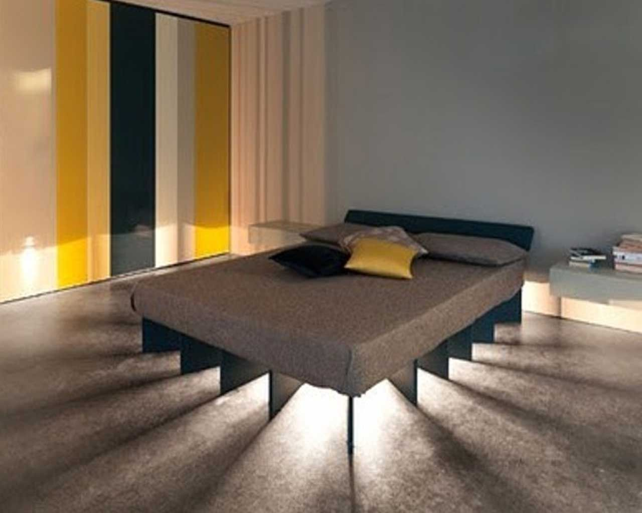 whoever thought to putting lighting under the bed clever cool bedroom lighting whoever thought - Cool Bedroom Lighting Ideas