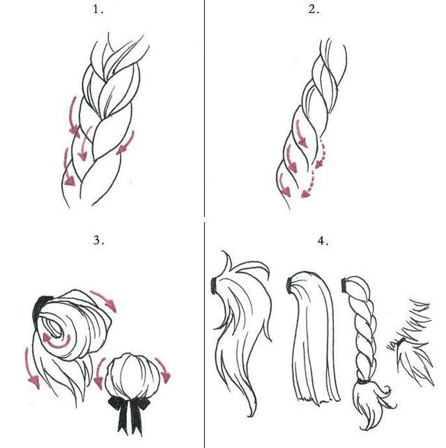 Drawing Tutorials Types Of Hairstyles Drawing Tutorial How To Draw Hair Drawings