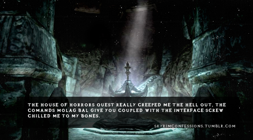 It Was Creepy But Molag Bal S Voice Was Awesome Elder Scrolls Skyrim Elder Scrolls Skyrim