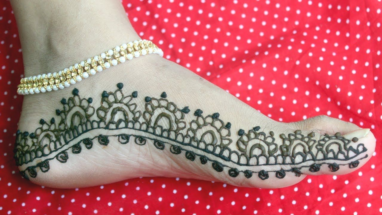 Mehndi Legs Images : Easy beautiful leg mehndi design feet henna
