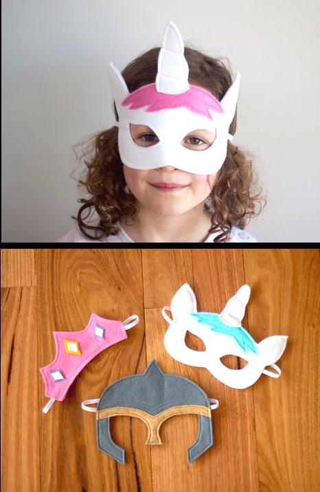 Fairytale Character Masks - Princess Tiara, Unicorn and Knight ...