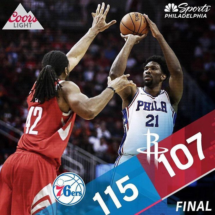 The  Sixers got a huge win in Houston 115-107. This was an awesome team win  as 7 players scored in double figures! Were at home on Wednesday vs. ATL. efabe0a62