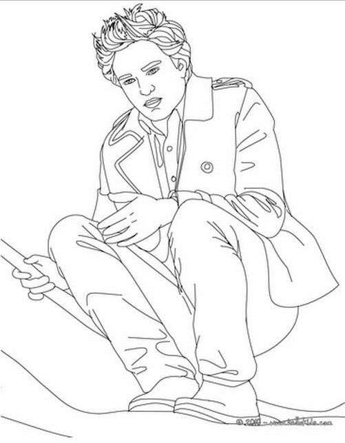 Coloring Pages of Robert Pattinson and Taylor Lautner  Team