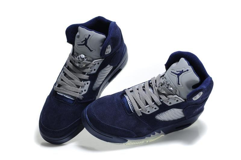 ada5df802f34 Air Jordan 5 (V) Fluff Navy Blue Grey White ...
