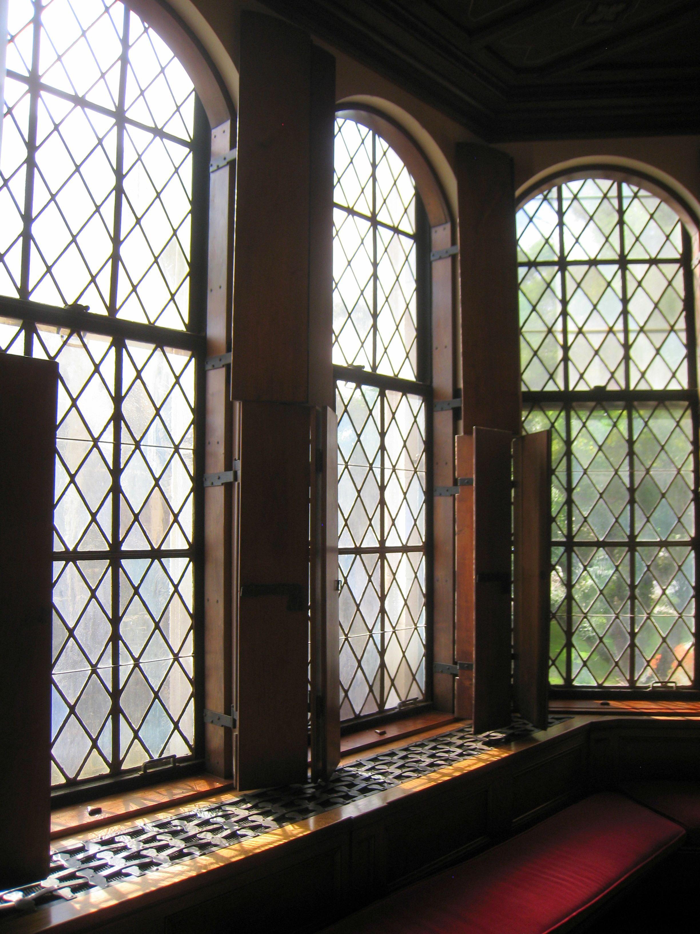 Diamond Pane Windows Floor Ceiling