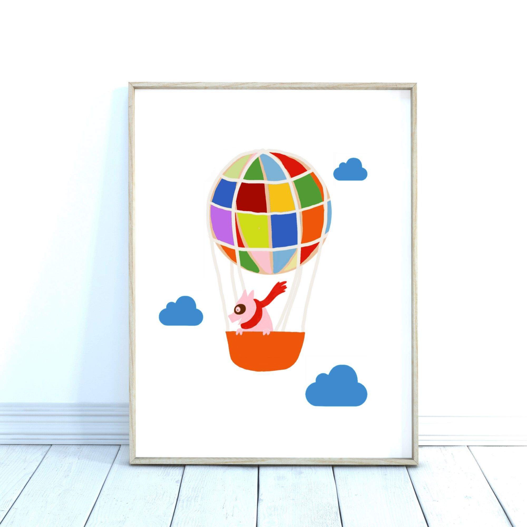 balloons print nursery decor print at home digital download print hot air balloons print whimsical print printable art