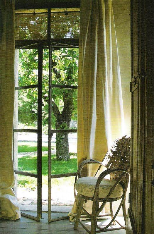 Iron and glass doors to garden, Cote Sud Magazine, edited ...