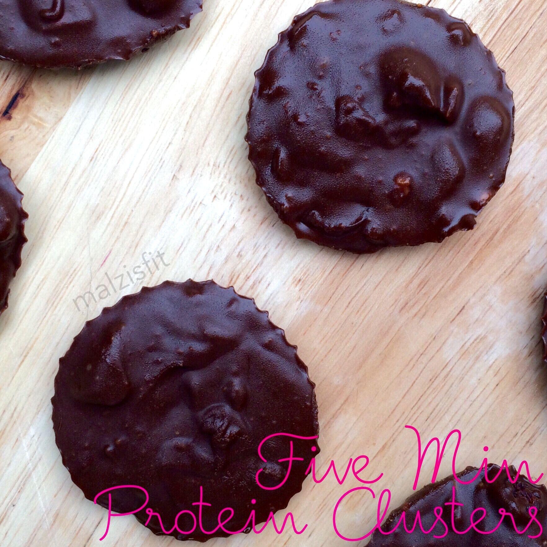 Five Minute Dark Chocolate Protein Clusters