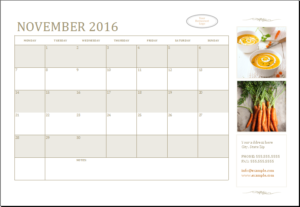 Customizable Business Calendar Download At HttpWwwTemplateinn