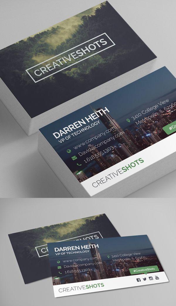 Modern Business Card Template | DESIGN.Web | Pinterest | Card ...