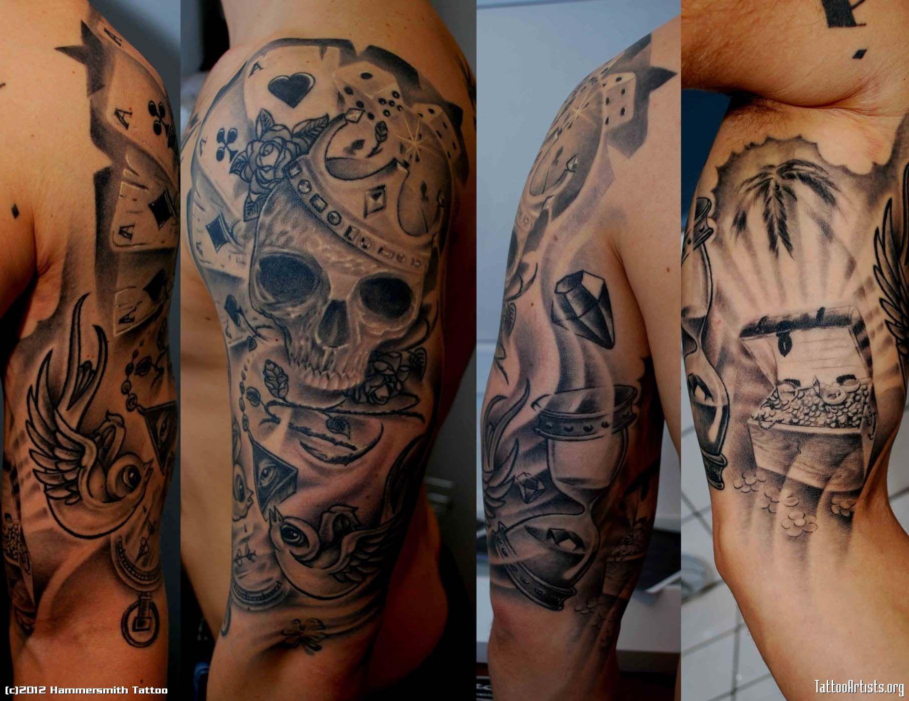 Black Grey Sleeve Tattoo Ideas: Black And Grey Koi Fish Sleevefull Tattoo Sleeves