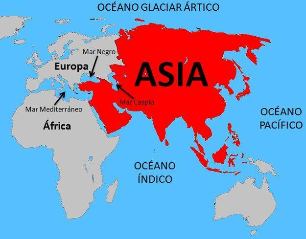 Continente Europeo Africano Y Asiatico Buscar Con Google Mapa De Asia Continente De Asia Asia