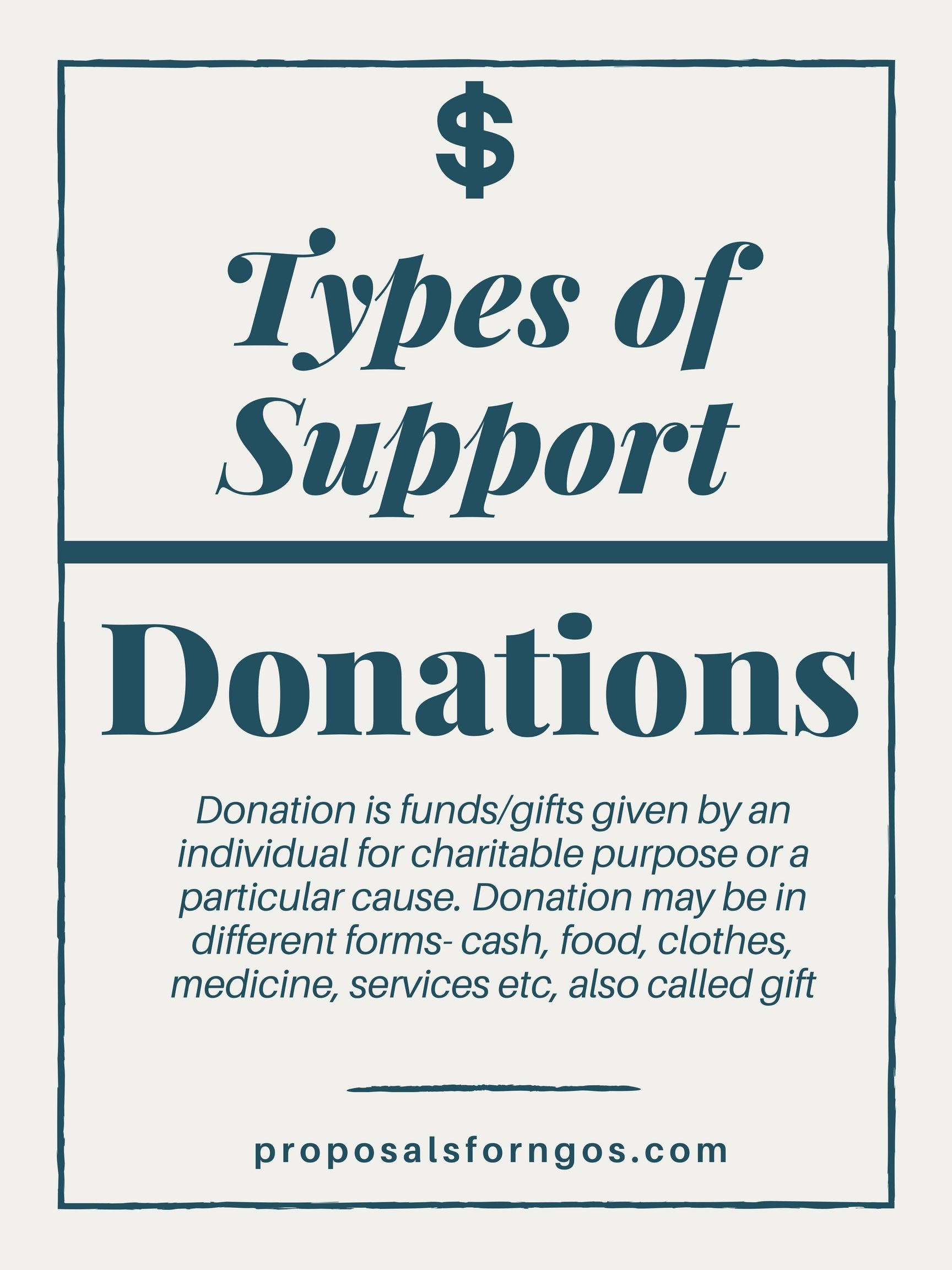Types Of Support Donations Proposal For Ngos Supportive Online Fundraising Proposal Writing