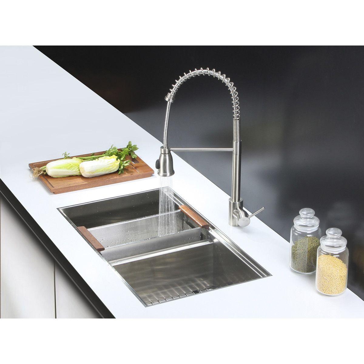 Roma Workstation Ledge 33 L X 19 W Double Basin Undermount Kitchen Sink Kitchen Sink Undermount Kitchen Sinks Double Bowl Kitchen Sink