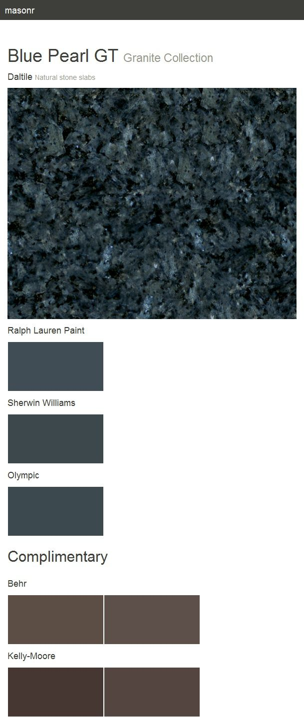Blue Pearl Gt Granite Collection Natural Stone Slabs Daltile Daltile Blue Pearl Granite Blue Granite