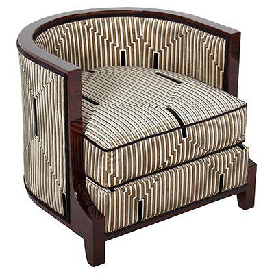 art deco sessel furniture pinterest tub chair club. Black Bedroom Furniture Sets. Home Design Ideas