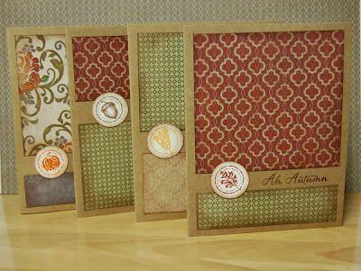 card set by Lynn Darda using CTMH Huntington paper on Kraft card bases