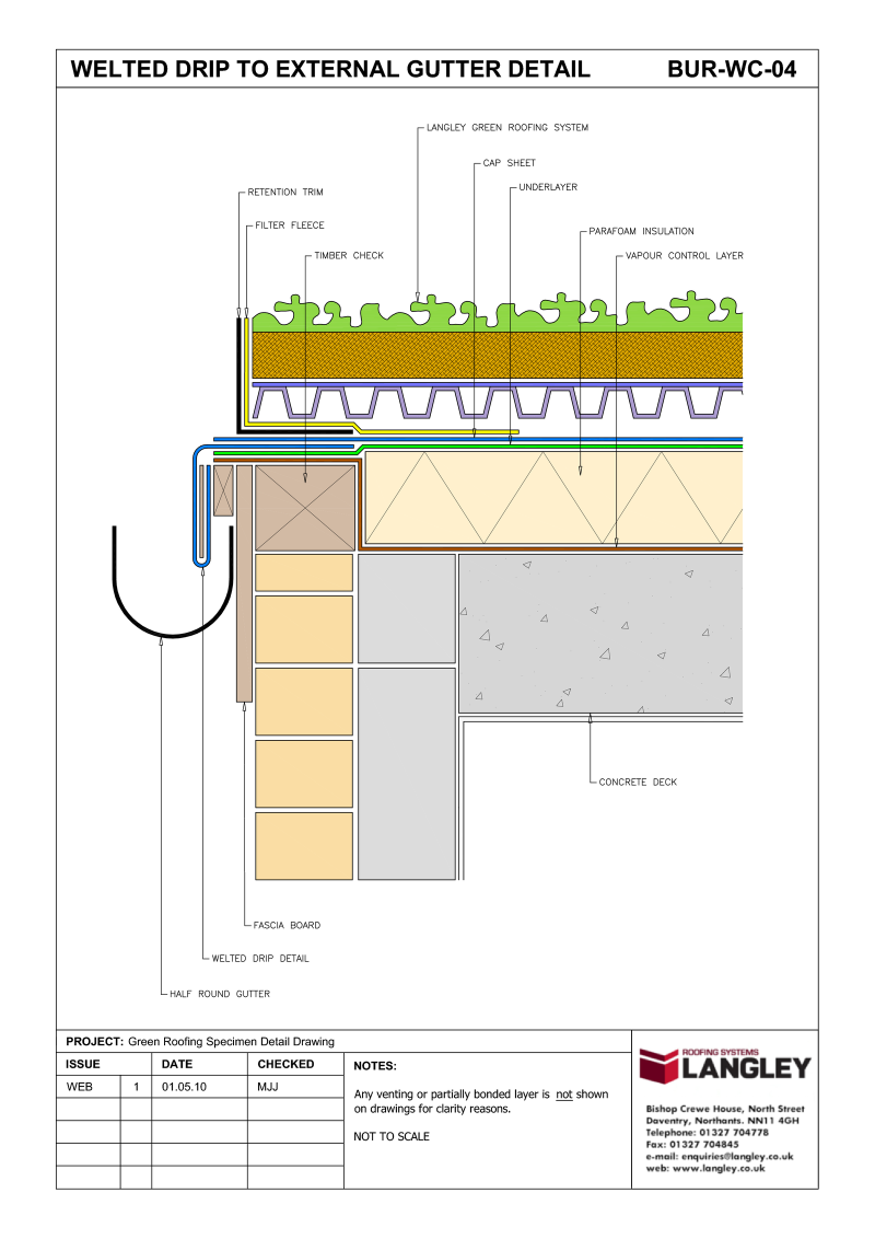 Roof Details Drawing Amp A 15 Roofing Detail At Parapet Wall