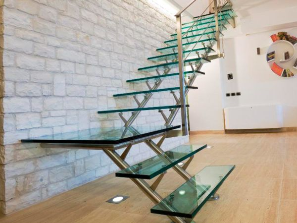 Escaleras de vidrio separador cocina pinterest - Escaleras de vidrio ...