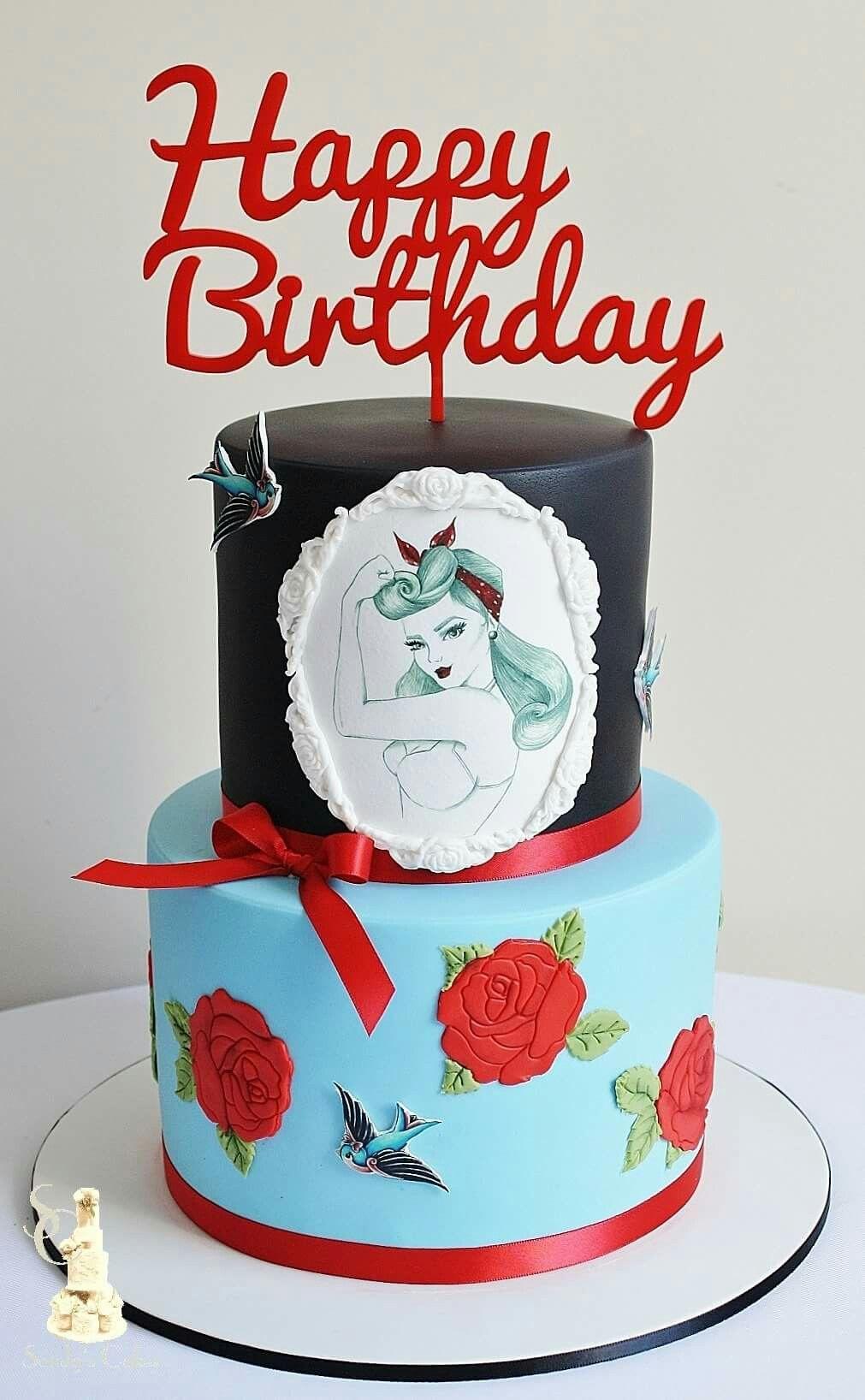 Rockabilly Birthday Cake Cake Vintage Cake
