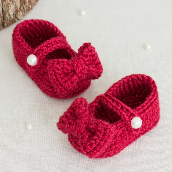 Inspired by Dorothy from the Wizard of Oz, these cute little booties ...